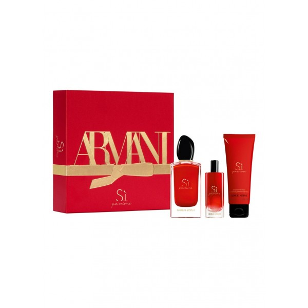 Armani Si Passione 100ml Edp + Mini + Bodylotion Geschenkset
