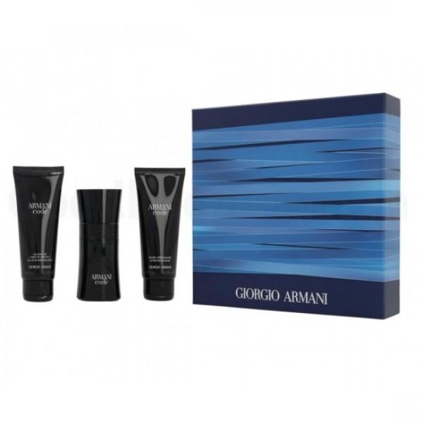 Armani Code Pour Homme 50ml Edt + Shampoo + Aftershave-Balm Geschenkset